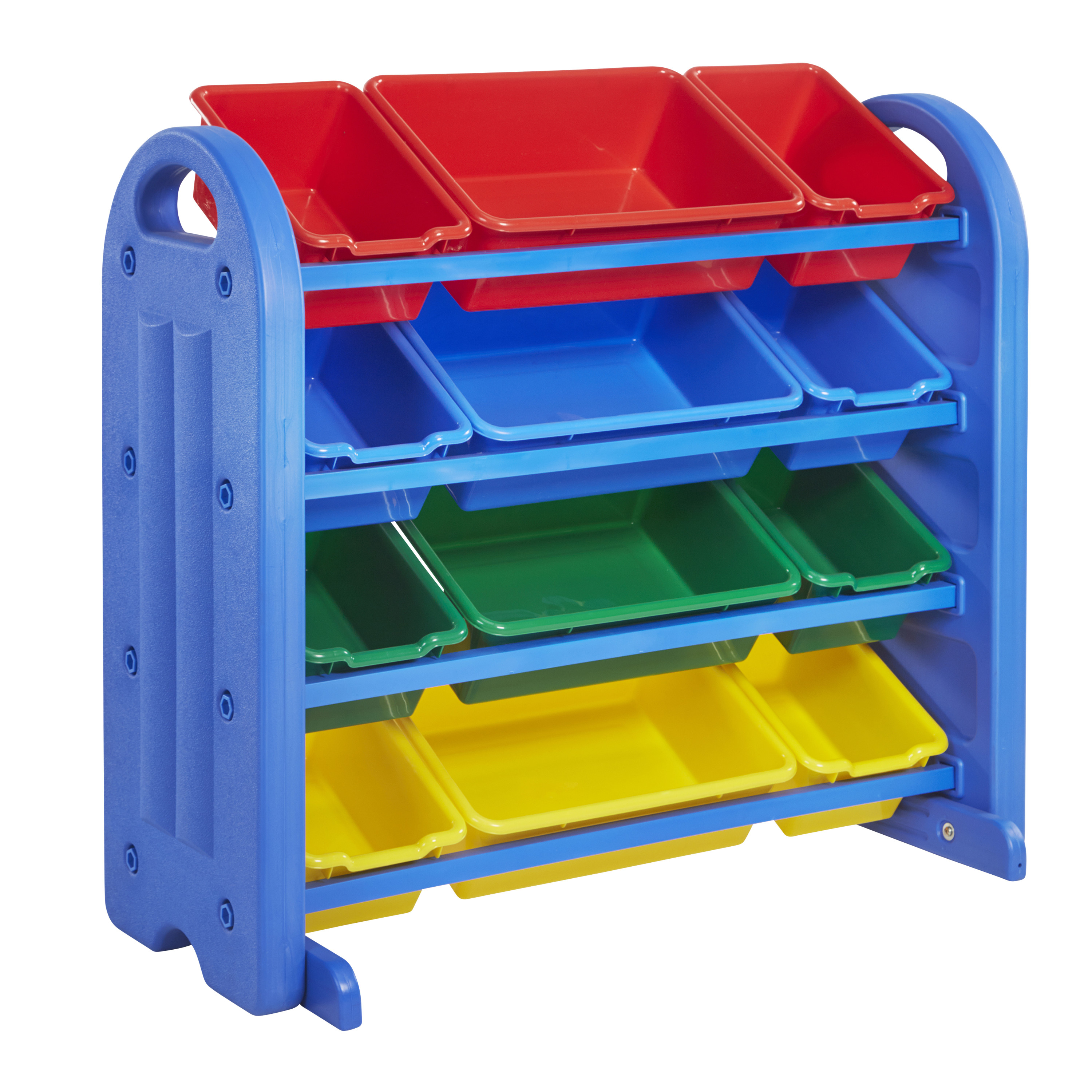 4-Tier Storage Organizer with Assorted Bins - Blue