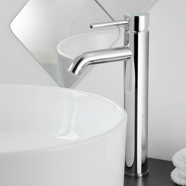 Aquaterior 12 1 2 Single Handle Bathroom Faucet Vessel Sink One Hole Tall Body Faucet Cupc Nsf Walmart Com Walmart Com
