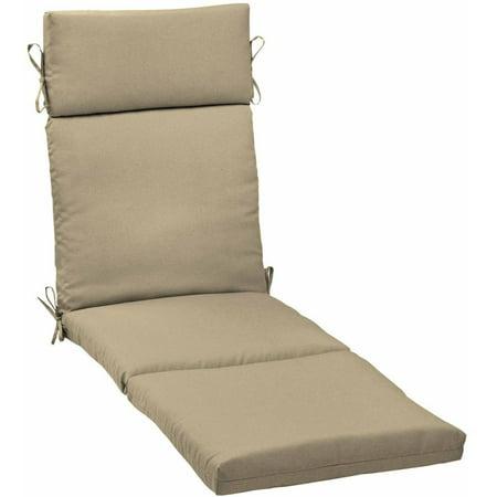 Mainstays outdoor patio chaise lounge cushion tan - Walmart lounge cushions ...