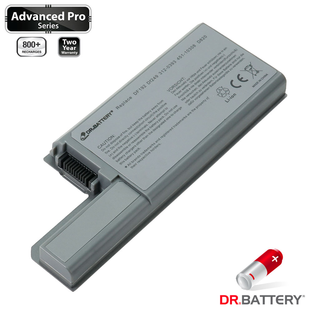 Dr. Battery - Samsung SDI Cells for Dell Latitude D531 / D531N / D820 / D820 BURNER / D820 Essential Plus / D830 / PP04X / 312-0538 / 312-9122 / 451-10308 / 451-10309 / 451-10326 / 451-10327 - image 2 of 5