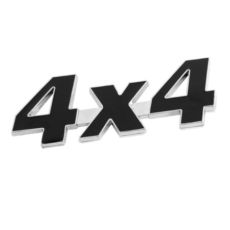Unique Bargains Car Exterior Adhesive Black Metal 4X4 Shaped Sticker Badge Emblem Decor