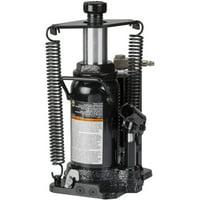 Omega 18126C Black Hydraulic Bottle Jack with Return Springs, 12 Ton Capacity