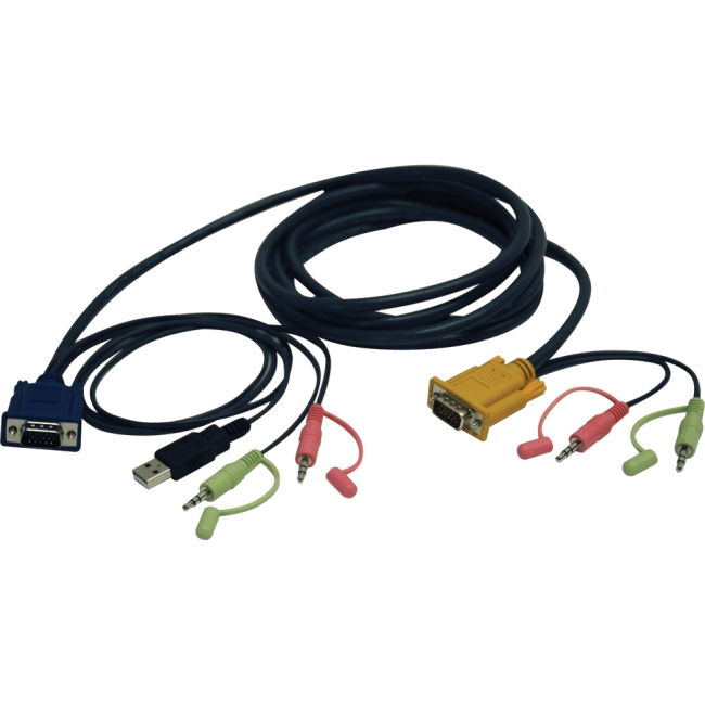 Tripp Lite 10ft VGA / USB / Audio Cable Kit for B006-VU4-K-R KVM Switch
