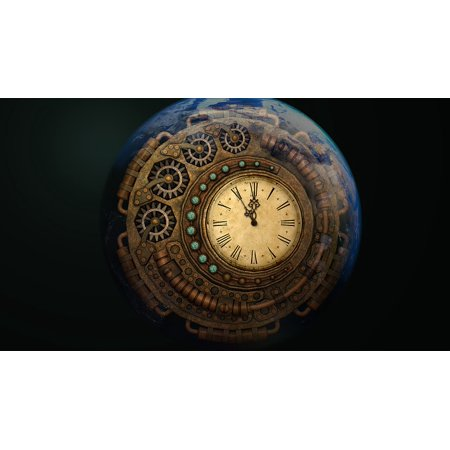 Canvas Print Moondial Full Moon Time Machine Time Moon Time Stretched Canvas 10 x 14 ()