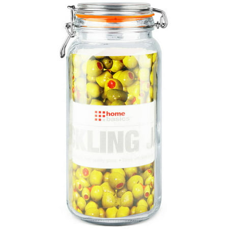 Home Basics Glass Pickling Jar with Lid