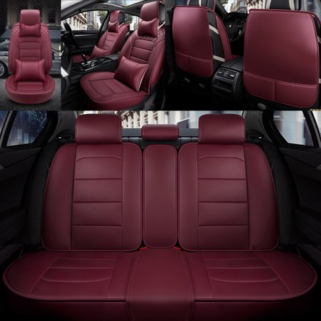 Fantastic Pu Leather Seat Covers 5D Car Suv Seat Cushions Front Rear Universal Full Set Seat Cover Side Airbag Compatible Dailytribune Chair Design For Home Dailytribuneorg
