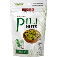 Sprouted Pili Nuts, Certified Paleo and Keto (Ranch, 1.7 oz)