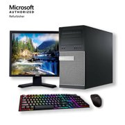 """Dell Optiplex Windows 10 Pro Desktop Computer Intel Core i5 3.1GHz Processor 8GB RAM 500GB HD Wifi with a 19"""" LCD Monitor Keyboard and Mouse - Refurbished PC with a 1 Year Warranty"""