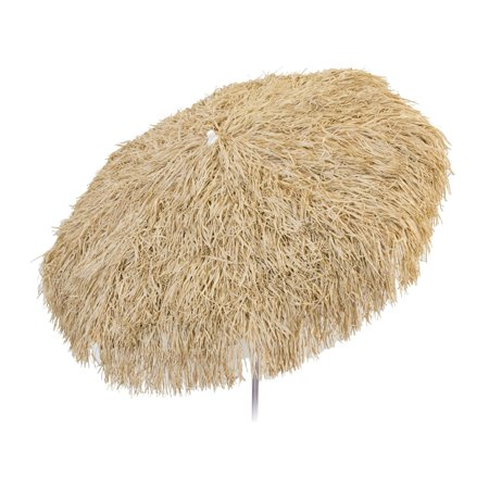 6ft Palapa Tiki Tilting Party Umbrella Home Patio Canopy Sun Brown - Patio Pole - Tiki Umbrellas