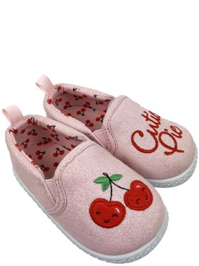Infant Girls' Wonder Nation Cherry Canvas Shoes