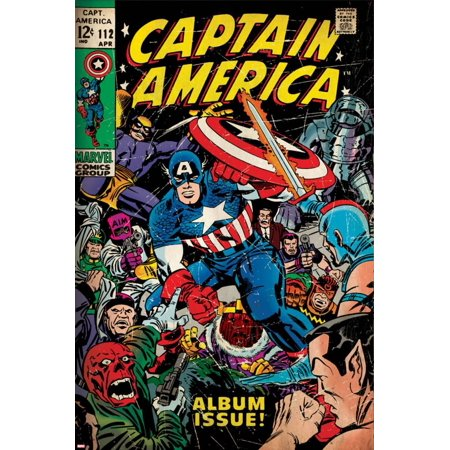 Marvel Comics Retro Style Guide: Captain America, Red Skull, Namor Poster Wall Art