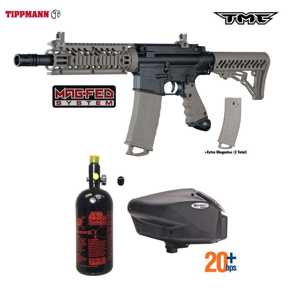 Tippmann TMC MagFED HPA Paintball Gun Package A Black   Tan by