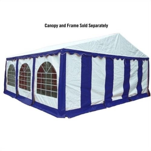 ShelterLogic 20'x20' Party Tent Enclosure Kit in Blue and White