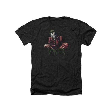 Asylum Straitjacket (Batman DC Comics Joker Arkham Asylum Straight Jacket Adult Heather T-Shirt)