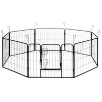 "ALEKO DK24X32 Heavy-Duty Pet Playpen Dog Kennel Exercise Cage Fence, 8-Panel, 32"" x 24"""
