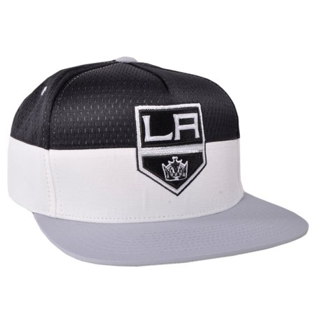 Los Angeles Kings Half Court Snapback Hat Mitchell Ness Licensed NHL Mesh