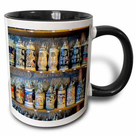 3dRose Germany Baden-Wurttemberg, Rothenberg, Beer Stein - EU10 JEN0307 - Jim Engelbrecht - Two Tone Black Mug, 11-ounce