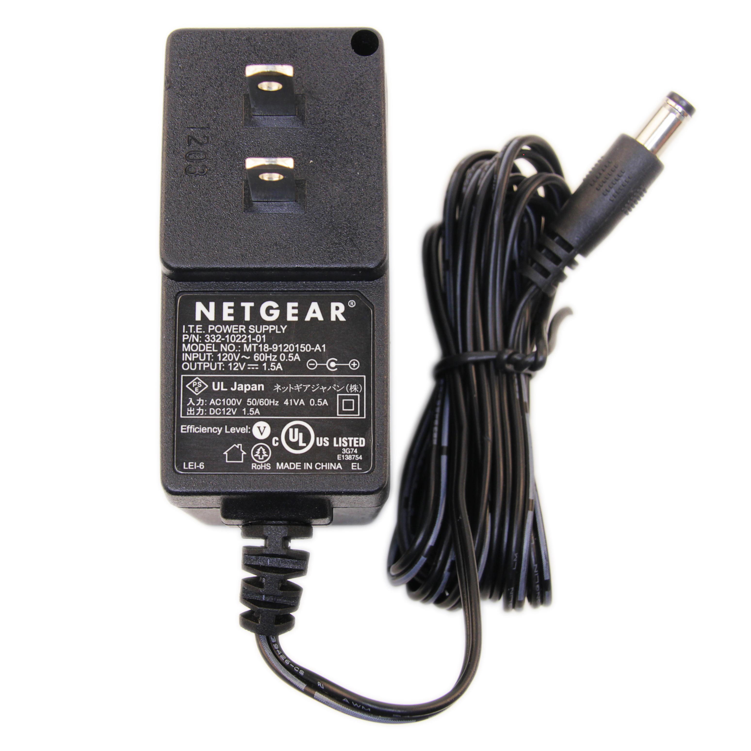 Original NETGEAR 12V 1.5A 18W Power Adapter AC Charger for Model WNR834M WNR3500v1 WNR3500Lv1 Product RangeMax... by NETGEAR