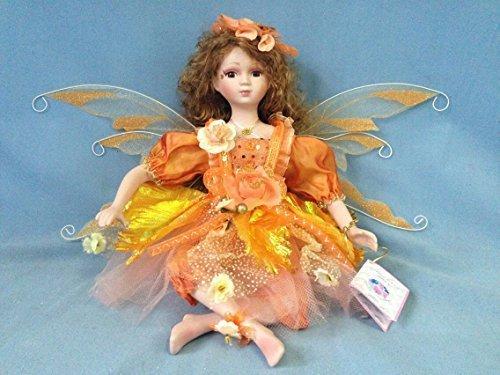 """Jmisa 16"""" Porcelain Fairy Sitting Doll by JMISA"""