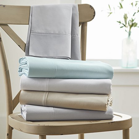 Better Homes & Gardens 300 Thread Count Solid Organic Arctic White Full Bedding Sheet Set