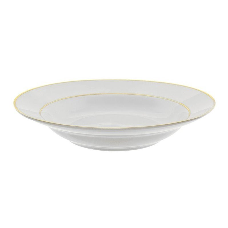 10 Strawberry Street Gold Double Line Rim Soup Bowl (Set of 6) by 10 Strawberry Street
