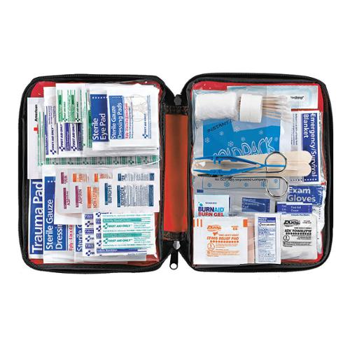 AMERICAN RED CROSS First Aid Kit, Bulk, Red, 299 Pcs, 25 People 711442-GR