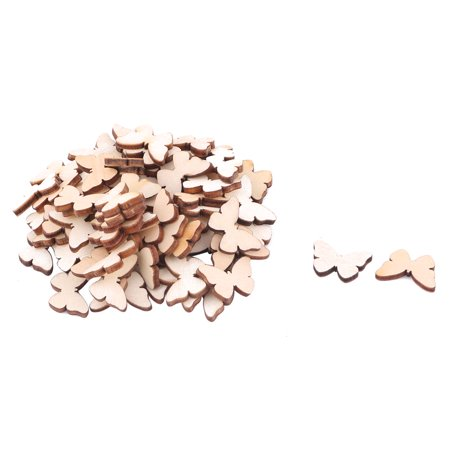 Wooden Slices Butterfly Shaped DIY Craft Accessories Embellishment Beige 75pcs](Wood Tree Slices)