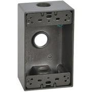 Hubbell Electrical FSB50-3-BR 1 Gang Rectangular Outlet Box, Bronze