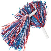 38b1b969a2d Product Image Red White and Blue Patriotic Pom-Poms (Pair) Cheerleader USA Costume  Accessory