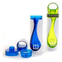 Gibson Home Hydra Splash 2-Pack 10 oz Hydration Plastic Bottle, Blue, Green