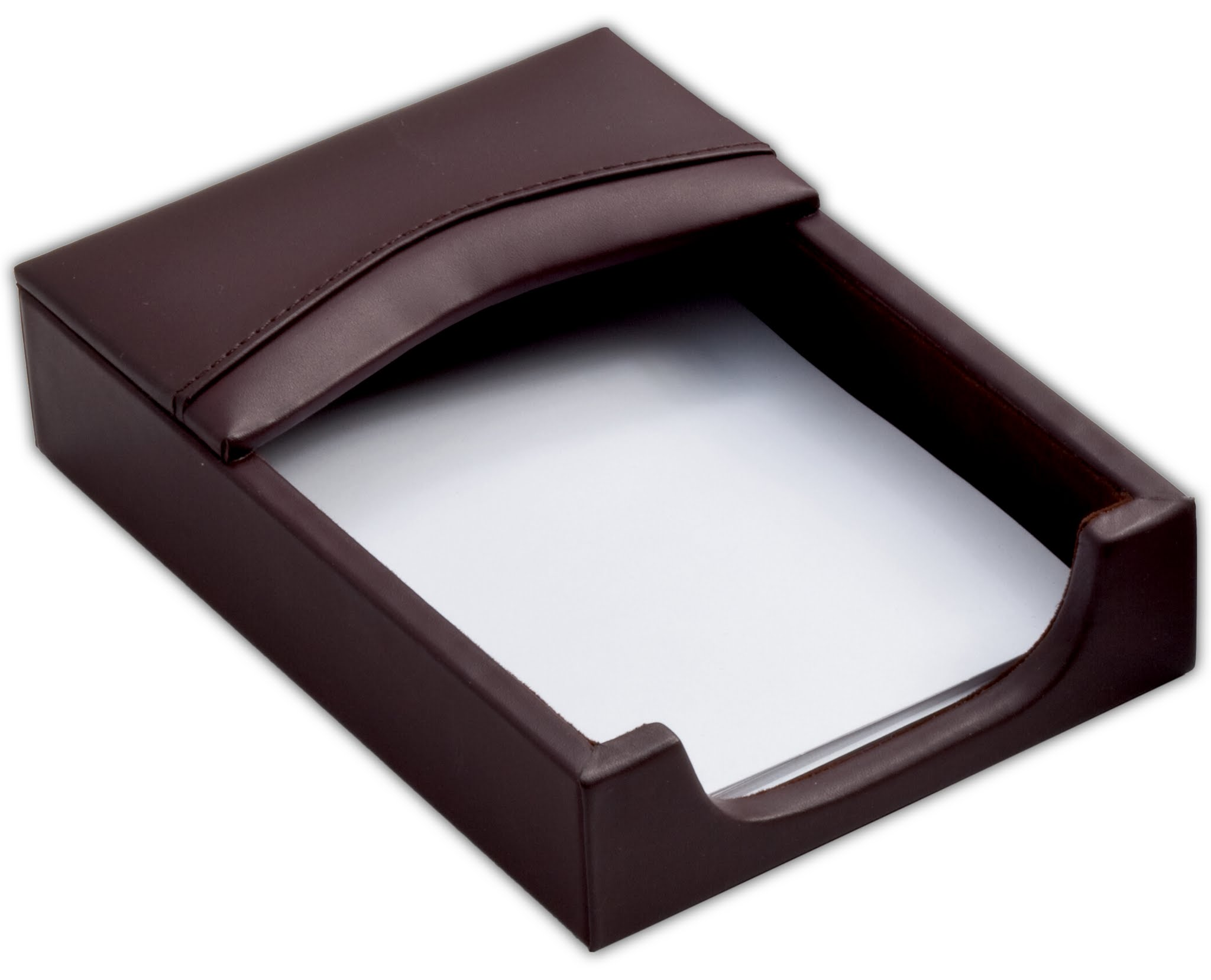 Chocolate Brown Leather 4 x 6 Memo Holder by Dacasso