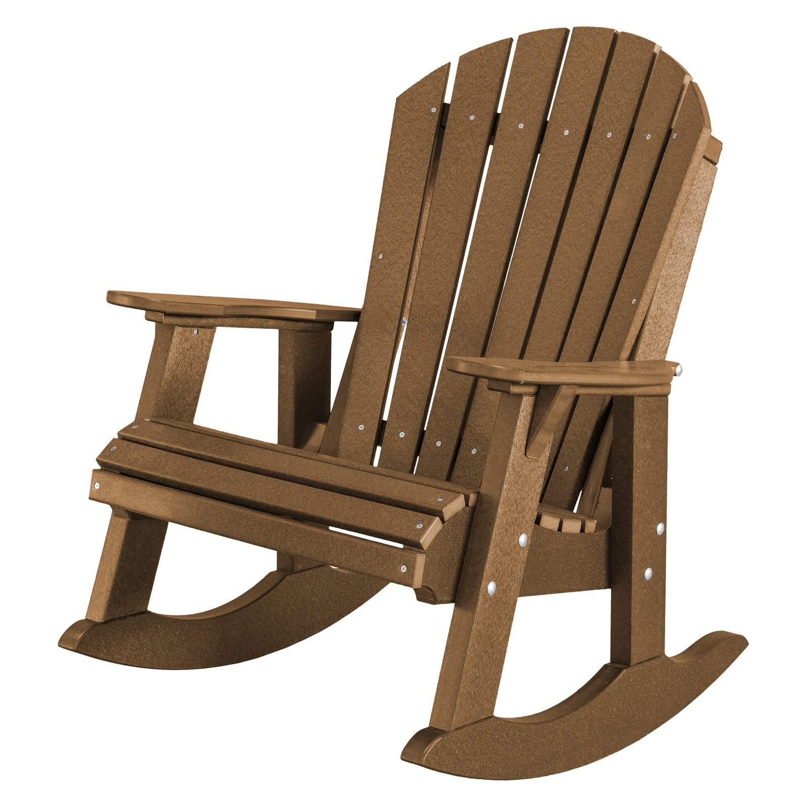 Wildridge Heritage High Fan Back Plastic Patio Rocker Chair