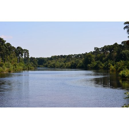 Canvas Print Ven Oisterwijk Water Trees Nature 14 Lakes Tour Stretched Canvas 10 x (Tour Water)