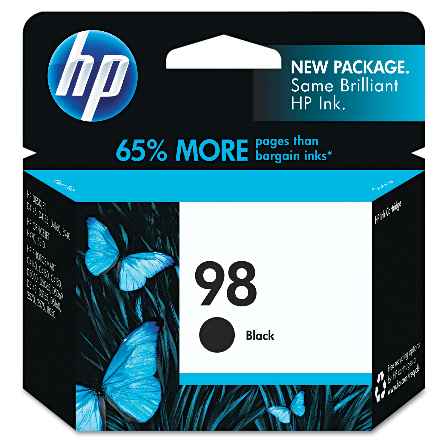 HP 98, (C9364WN) Black Original Ink Cartridge