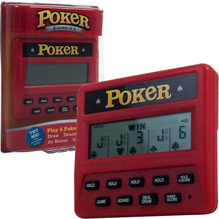 Milton Bradley Electronic Handheld Game - RecZone Electronic Handheld 5-in-1 Poker Game