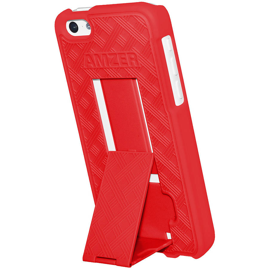 Amzer Snap-On Case with Kickstand for Apple iPhone 5C