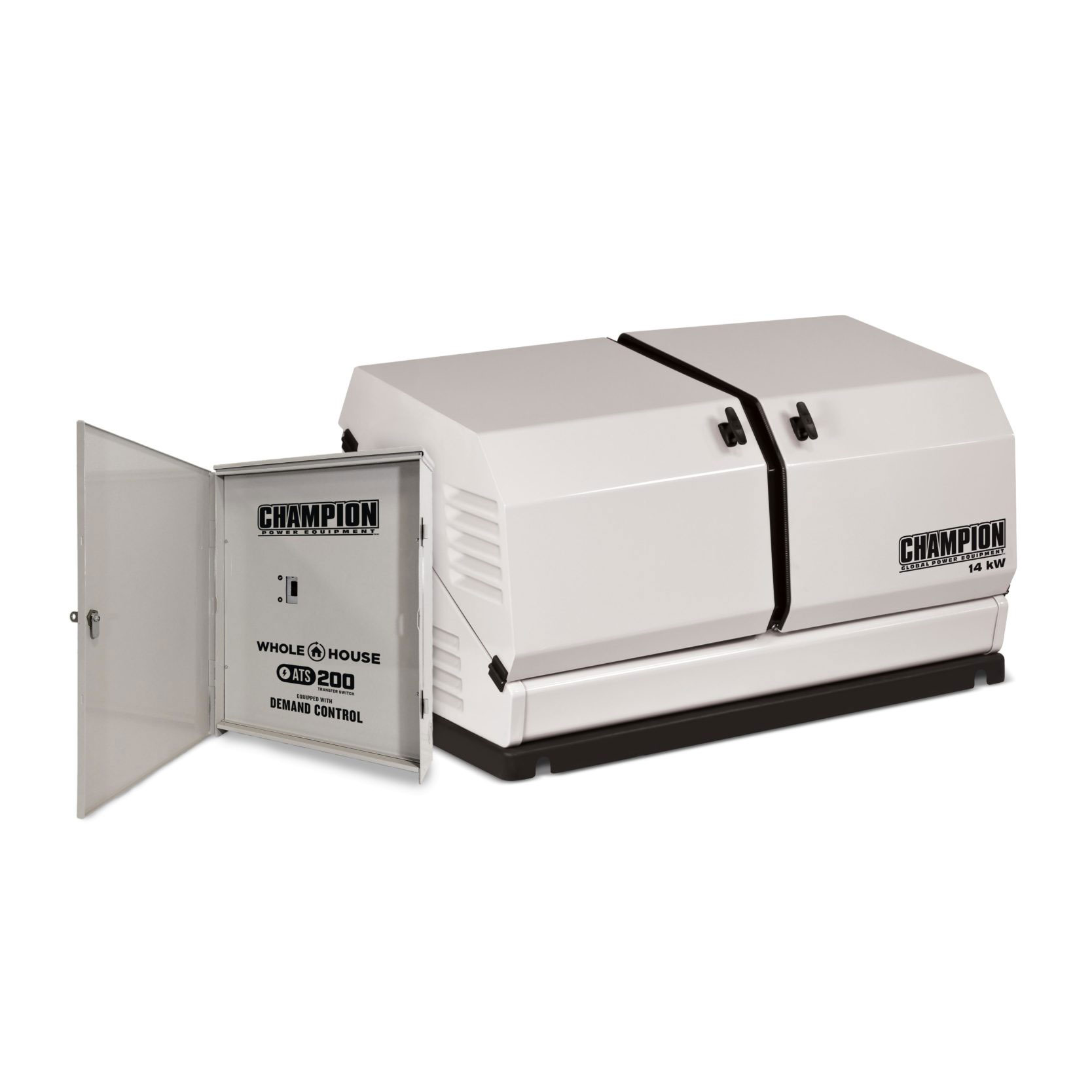 Champion 100294 14-kW Home Standby Generator with 200-Amp Whole House Automatic Transfer Switch with Demand Control by Champion Power Equipment
