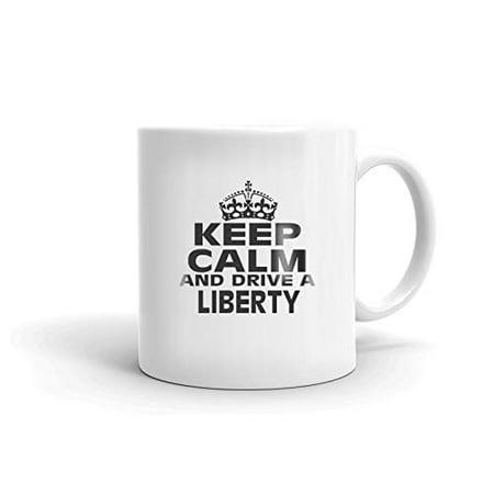 JEEP LIBERTY Keep Calm and Drive Coffee Tea Ceramic Mug Office Work Cup Gift 15 oz ()