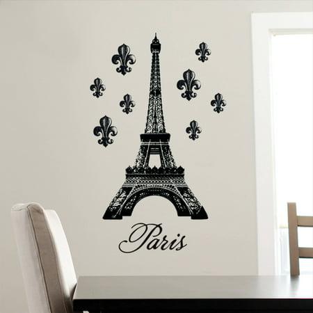 DCWV Vinyl Decal Eiffel Tower Wall Decal Walmartcom - Wall decals eiffel tower