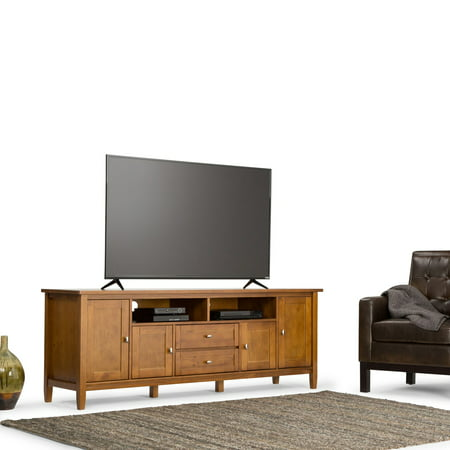 "Simpli Home Warm Shaker 72"" TV Media Stand"