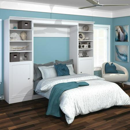 Versatile by Bestar 109'' Full Wall Bed Kit featuring 2 Door Storage in
