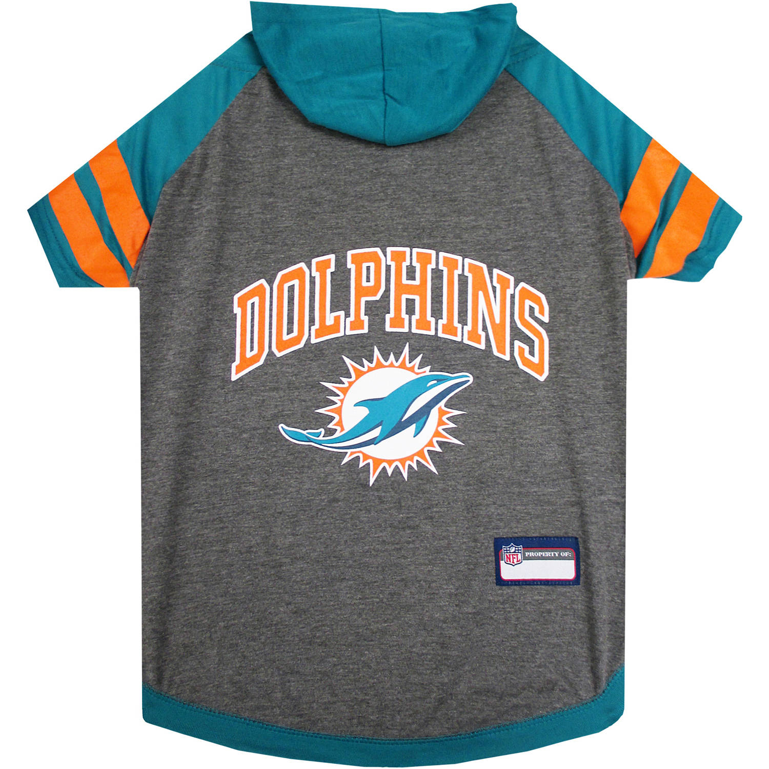 Pets First NFL Miami Dolphins Pet Hoodie Tee Shirt