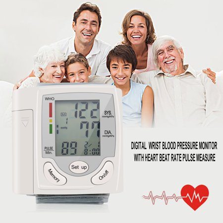 Blood Pressure Cuff Monitor Upper Arm, Auto Pulse Rate Systolic Diastolic BP Tracker, Irregular Heartbeat & Hypertension Detector, Backlit Display - image 8 of 8