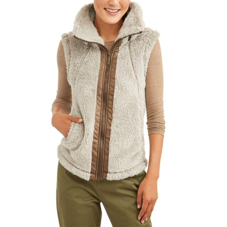 Climate Concepts Women's Fluffy Fleece Vest - Gangster Vest