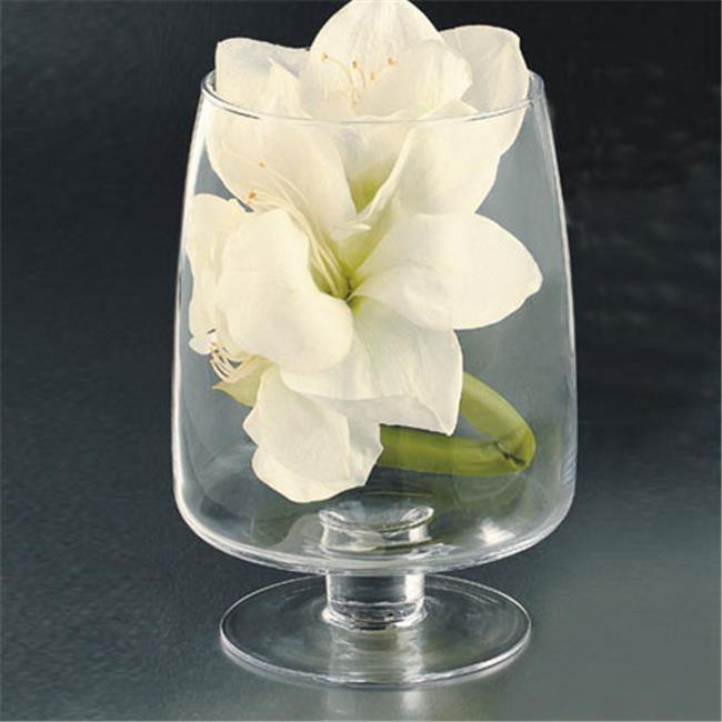 Diamond Star 64256 10 x 7 in. Glass Candle Holder, Clear