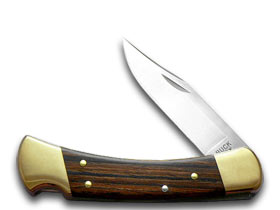 BUCK 110 Folding Hunter Wooden Pocket Knife Knives by Buck Knives