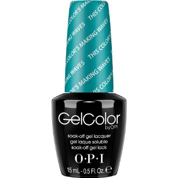 OPI Gel Color Nail Polish Lacquer - Hawaii Collection - GC H74 - This Color's Making Waves, 0.5 Fluid Ounce