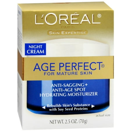 L'Oreal Dermo-Expertise Age Perfect for Mature Skin Night Cream 2.50 oz (Pack of (Boots No 7 Face Cream For Mature Skin)