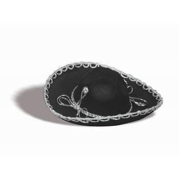 BLACK SOMBRERO W/OVERSIZE BRIM (Sombrero Dip Hat)