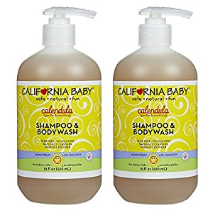 California Baby Calendula Shampoo & Bodywash, 19 Ounce 2 Pack by California Baby